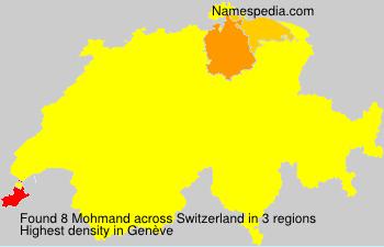 Surname Mohmand in Switzerland
