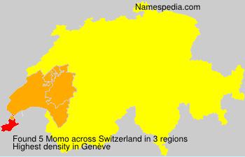 Surname Momo in Switzerland