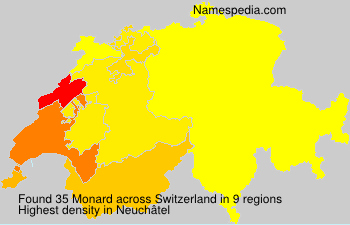 Surname Monard in Switzerland