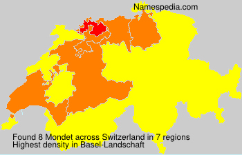 Surname Mondet in Switzerland