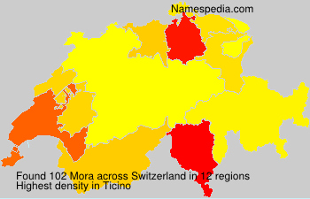 Surname Mora in Switzerland
