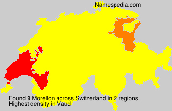 Surname Morellon in Switzerland