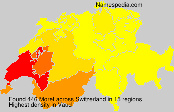 Surname Moret in Switzerland