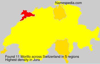 Surname Morillo in Switzerland