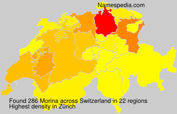 Surname Morina in Switzerland
