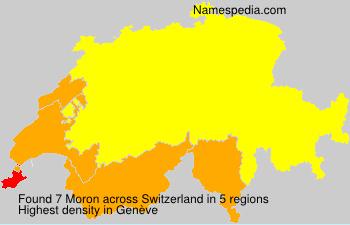 Surname Moron in Switzerland