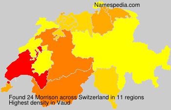 Surname Morrison in Switzerland