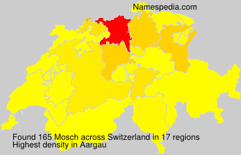 Surname Mosch in Switzerland