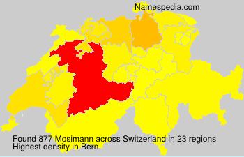 Surname Mosimann in Switzerland