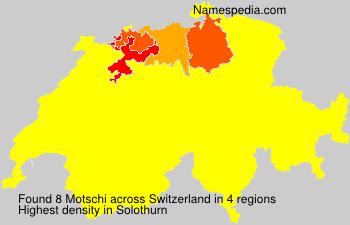 Surname Motschi in Switzerland