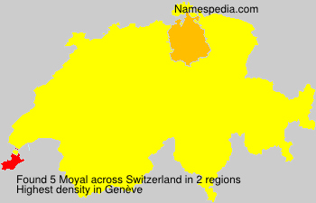 Surname Moyal in Switzerland