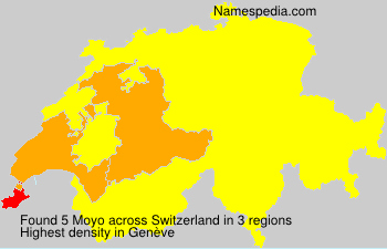 Surname Moyo in Switzerland