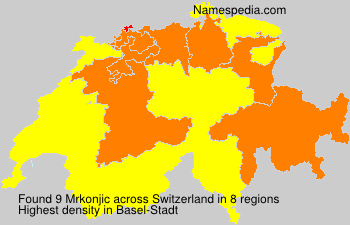 Surname Mrkonjic in Switzerland