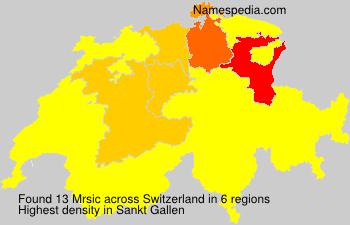 Familiennamen Mrsic - Switzerland