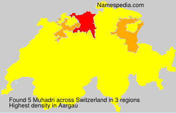 Surname Muhadri in Switzerland