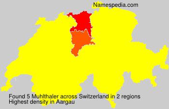 Familiennamen Muhlthaler - Switzerland