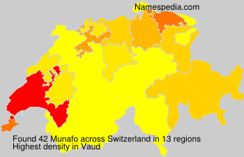 Surname Munafo in Switzerland