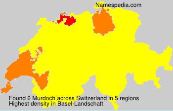 Surname Murdoch in Switzerland