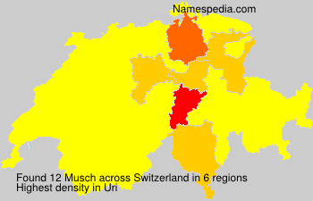 Surname Musch in Switzerland