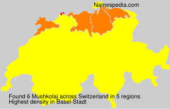 Surname Mushkolaj in Switzerland