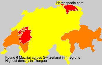 Surname Muzlijaj in Switzerland