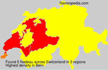 Surname Nadeau in Switzerland