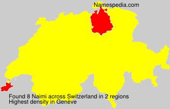 Surname Naimi in Switzerland