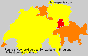 Surname Nawrocki in Switzerland