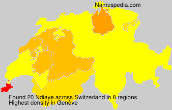 Surname Ndiaye in Switzerland
