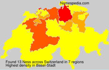 Surname Ness in Switzerland