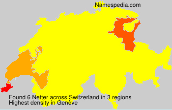 Familiennamen Netter - Switzerland