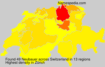 Surname Neubauer in Switzerland