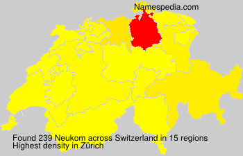 Surname Neukom in Switzerland