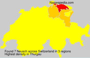 Surname Neusch in Switzerland