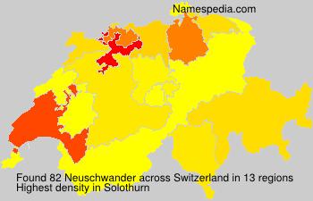 Familiennamen Neuschwander - Switzerland
