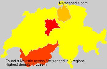 Surname Nevistic in Switzerland