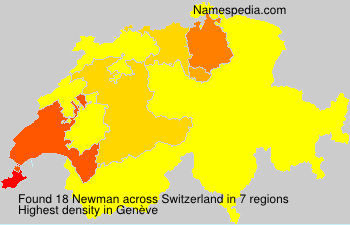 Surname Newman in Switzerland
