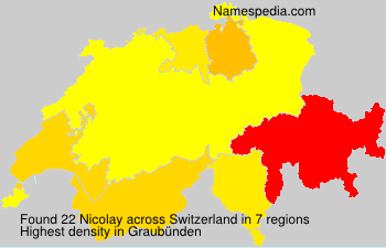 Surname Nicolay in Switzerland