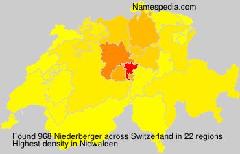 Familiennamen Niederberger - Switzerland