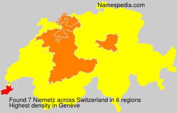 Surname Niemetz in Switzerland