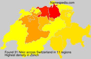 Surname Nikic in Switzerland