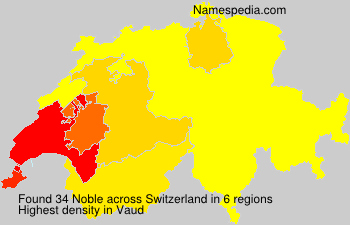 Surname Noble in Switzerland