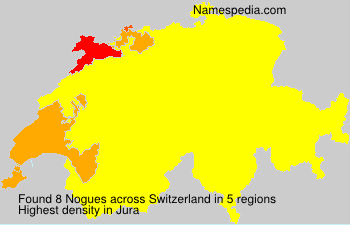 Surname Nogues in Switzerland