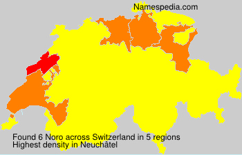 Familiennamen Noro - Switzerland