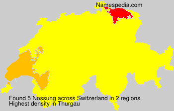 Surname Nossung in Switzerland