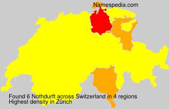 Surname Nothdurft in Switzerland