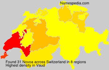 Surname Novoa in Switzerland