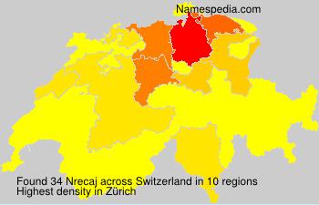 Surname Nrecaj in Switzerland