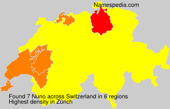 Surname Nuno in Switzerland