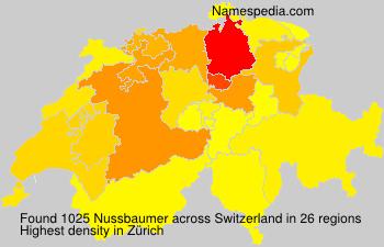 Surname Nussbaumer in Switzerland